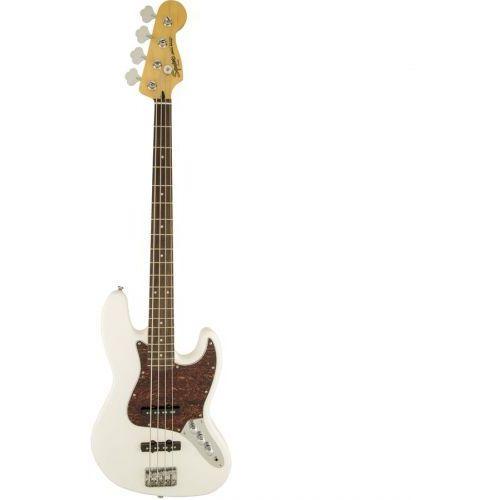 Fender Vintage Modified Jazz Bass, Laurel Fingerboard, Olympic White gitara basowa
