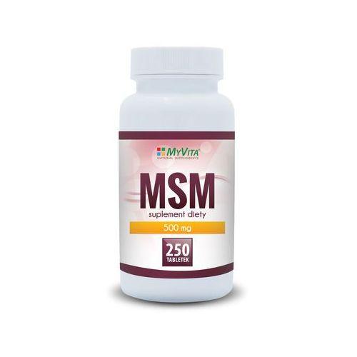 Tabletki MSM 500 mg - 250 tabletek MyVita
