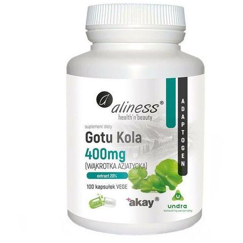 Kapsułki Wąkrota azjatycka Gotu Kola 400 mg 100 kapsułek Aliness
