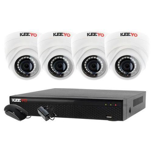 Ivelset Monitoring zestaw 4 kamerowy do szkoły przedszkola 4w1 4x kamera lv-al1m2fdpwh rejestrator 4 kanałowy lv-xvr44se p2p