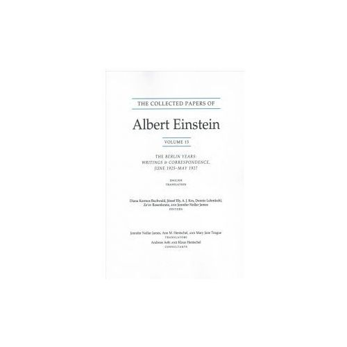 Collected Papers of Albert Einstein, Volume 15 (Translation Supplement) (9780691178820)