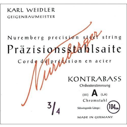 Nurnberger (643201) struny do kontrabasu prazision strojenie orkiestrowe - g 3/4