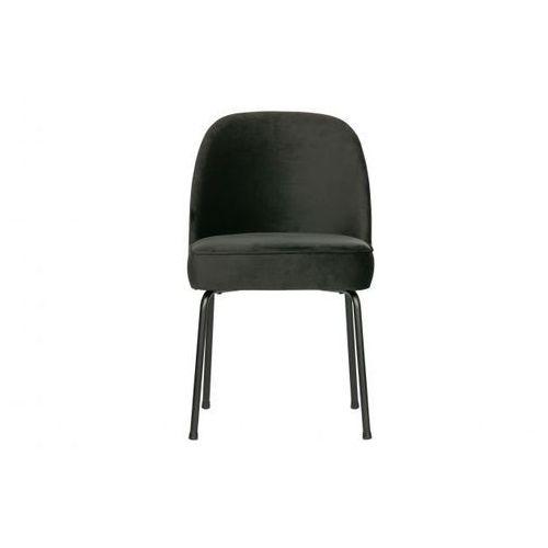 Be pure krzesło do jadalni vogue aksamit czarny 800816-z