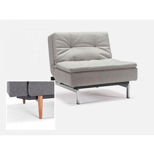 Fotel Dublexo beżowy 527 nogi jasne drewno  741051527-741025-1-6, marki INNOVATION iStyle do zakupu w sfmeble.pl