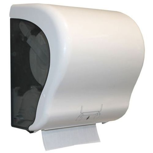 Mechaniczny pojemnik na ręczniki papierowe w roli Maxi Merida plastik biało-szary