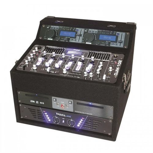 Ibiza Dj1000mkii stacja dj cd mp3 usb aux (5420047121387)