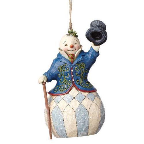 Jim shore Bałwanek zawieszka,(victorian snowman hanging ornament), 4047683 figurka ozdoba świąteczna