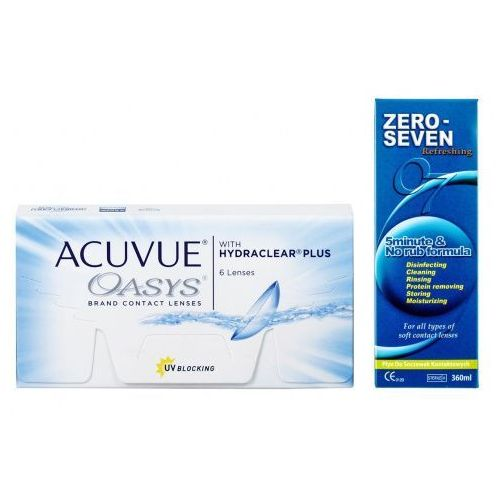 Acuvue oasys hydraclear 6szt. plus zero seven 120ml marki Johnson & johnson