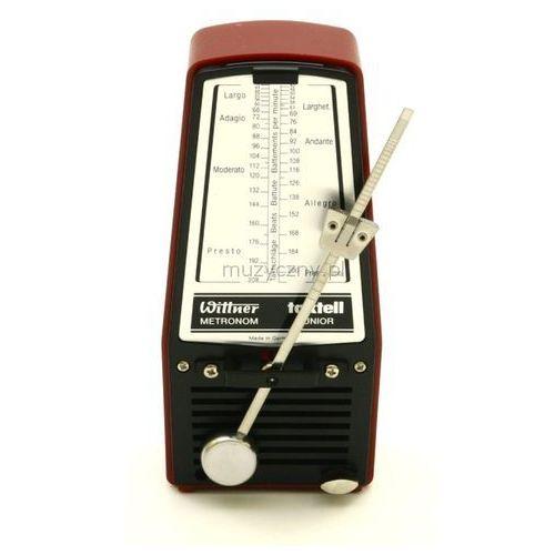 Wittner 824 903110 Junior metronom mechaniczny bez akcentu, kolor czerwony rubin