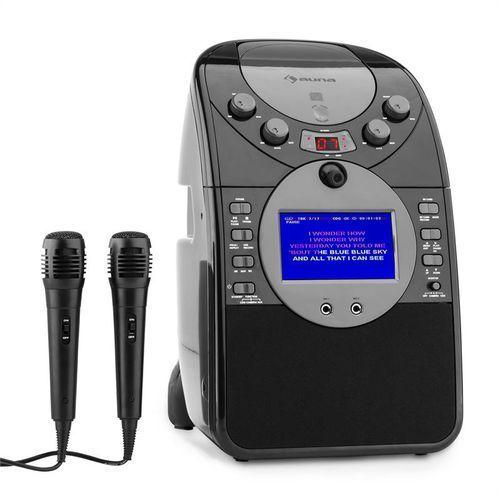 screenstar zestaw karaoke kamera cd usb sd mp3 z 2 x mikrofon czarny marki Auna