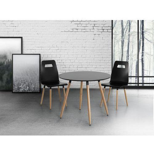 Stół do kuchni czarny - 90 cm - stół do jadalni lub salonu - bovio marki Beliani