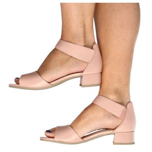 9-28212-24 róż perła - wygodne, niskie sandały - różowy ||beżowy, Caprice