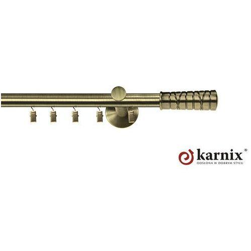 Karnisz aluminiowy ASPEN pojedynczy 16mm Torino antyk mosiądz - oferta [351d4074c765944d]