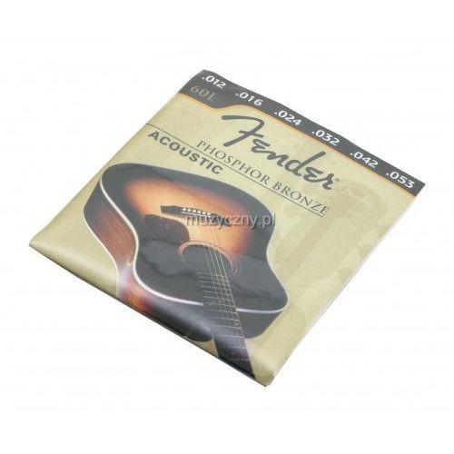 Fender 60L PB struny do gitary akustycznej 12-53