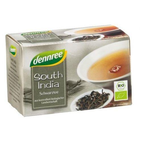 Herbata czarna południowe indie ekspresowa bio 20 x 1,5 g - dennree marki Dennree (dżemy, miody, herbaty)