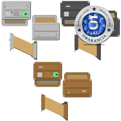 Skrzynka na listy MAX z domofonem i czytnikiem kart dostępu - zestaw 50A0211A/C/D ze sklepu Mifon