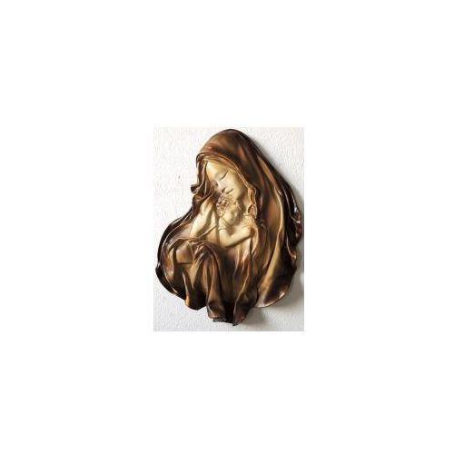 Rzeźba scienna w skórze matka boża maryja - duży rozmiar - md-6 marki Art deco