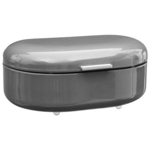 Metalowy chlebak RETRO, pojemnik na pieczywo - kolor szary, 40 x 25 x 17 cm (3560234520011)