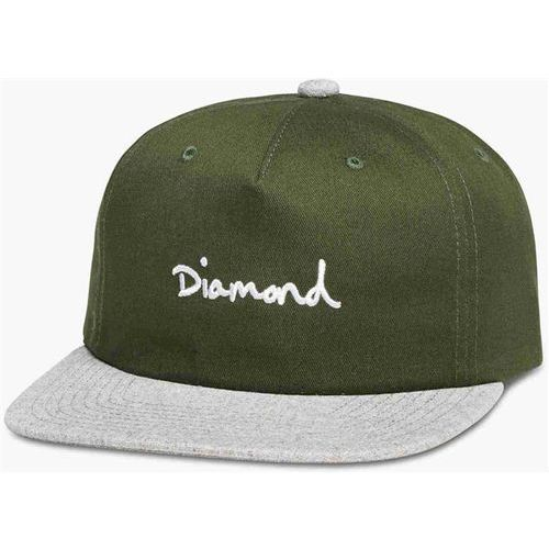 Czapka z daszkiem - og script two tone snapback olive (olv) rozmiar: os marki Diamond