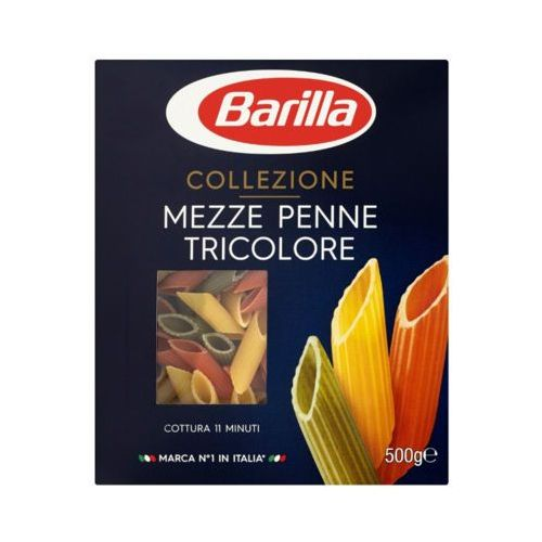 500g mezze penne tricolore makaron trójkolorowy pióra marki Barilla
