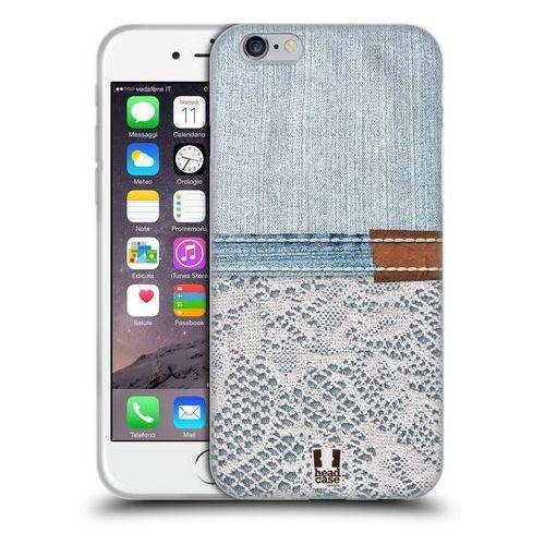 Etui silikonowe na telefon - jeans and laces white lace on light denim marki Head case