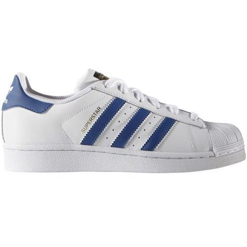 Adidas originals superstar foundation tenisówki i trampki white/blue (4055341449366)