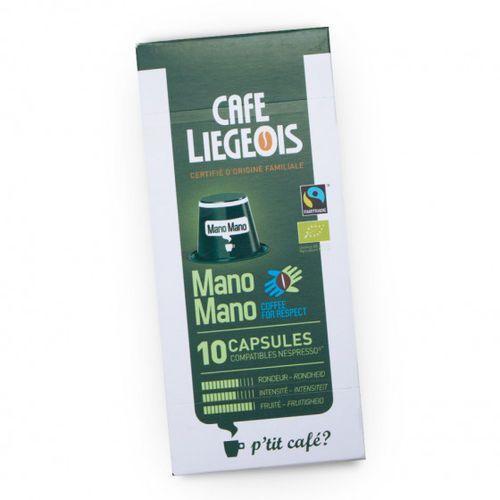 "Café liégeois Kawa w kapsułkach ""mano mano"", 10 szt."