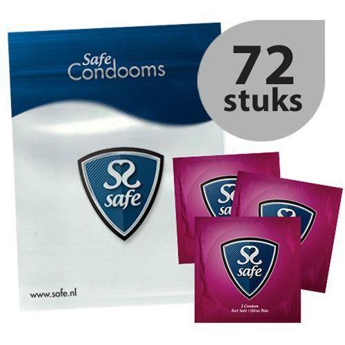 Prezerwatywy ultra cienkie - Safe Feel Safe Condoms Ultra-Thin 72szt (8718801922811)