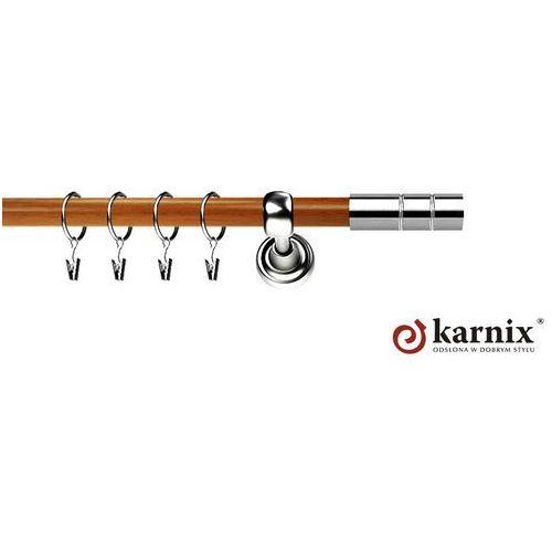 Karnisz Metalowy Prestige pojedynczy 25mm Cylinder INOX - calvados ze sklepu ikarnisze.pl - Home&Design