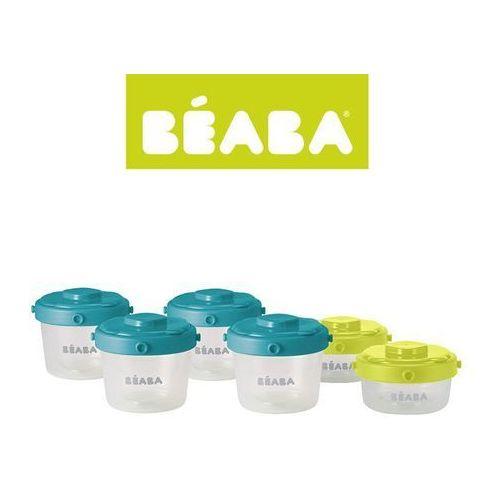 Beaba Zestaw słoiczków Clip 6 szt. 60 ml i 120 ml neon/blue