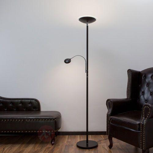 Lampenwelt Lampa stojąca malea z led, z ramieniem do czytania