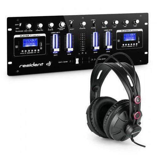 Resident dj Dj405usb-bk 4-kanałowy pulpit mikserski ze słuchawkami studyjnymi (4260528635672)