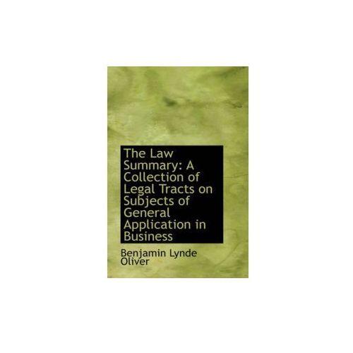 Law Summary (9781103319114)