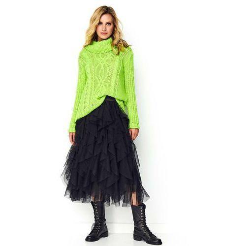 Czarna zwiewna warstwowa spódnica tiulowa marki Makadamia