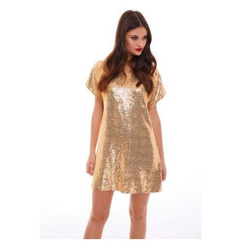 Sukienka sagitta w kolorze złotym, Sugarfree, 32-40