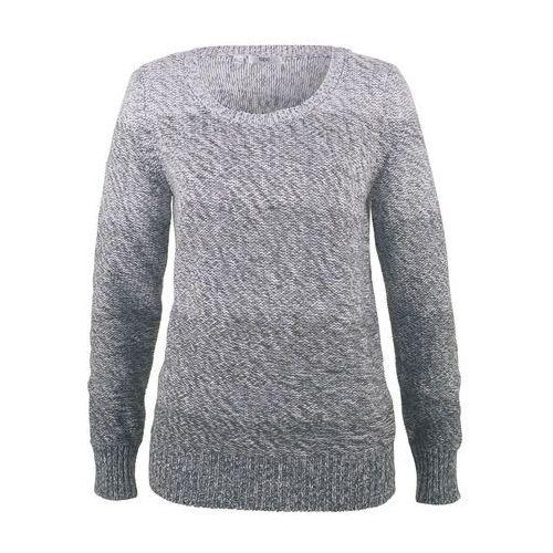 Sweter z okrągłym dekoltem, długi rękaw bonprix antracytowy