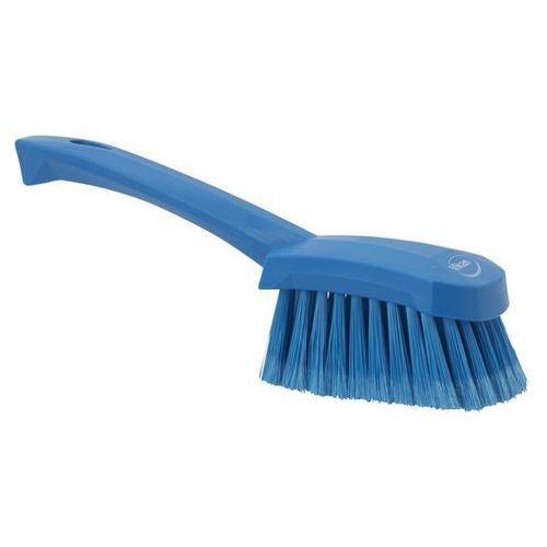 Miękka szczotka z krotką rączką i rozszczepionym włosiem, niebieska 41943 ze sklepu Gastrosilesia