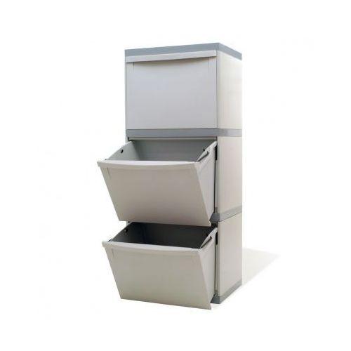 Zestaw koszy na segregowane odpady ekomodul, 3x30 l marki B2b partner