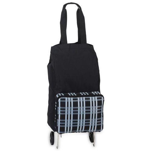 Wózek na zakupy z torbą czarną niemieckiej marki SOUTHWEST (wózek na zakupy)