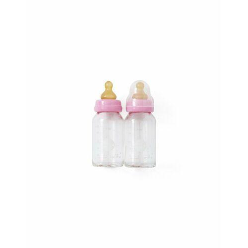 Butelki do karmienia ze szkła borokrzemowego (2x120ml) Pink Hevea