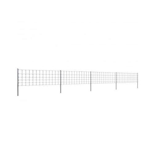 Ocynkowane ogrodzenie ze słupkami, 50 m, 80/6/30 (140398+141102) ze sklepu VidaXL