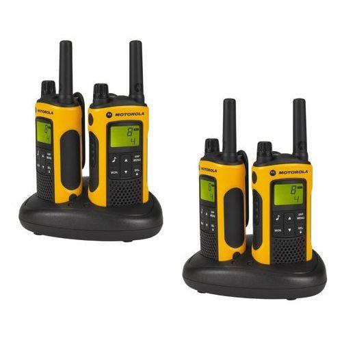 Motorola tlkr 80 extreme zestaw krótkofalówek pmr, wodoodporne (indeks odporności ipx4), zasięg do 10 km, pomarańczowy (5031753006495)