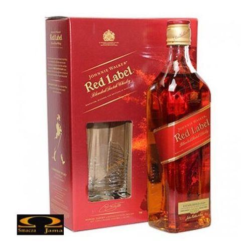 Johnnie walker Whisky  red label 0,7 l. + 2 szklanki z kategorii Alkohole