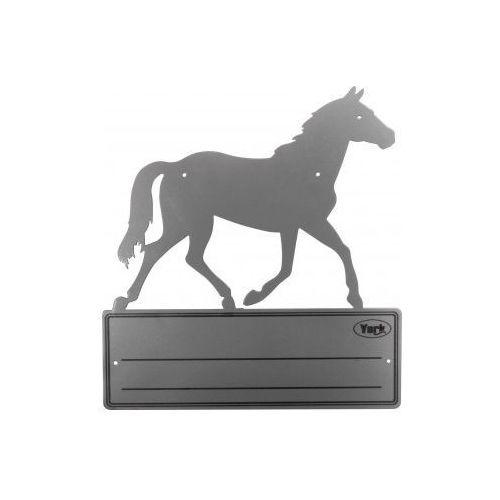 Tabliczka na boks konia York szara - produkt dostępny w Pro-horse Sklep Jeździecki