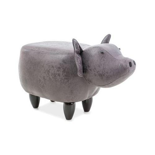 Pufa zwierzak - - świnka sabinka - szary marki Signal