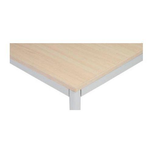Stół do jadalni i stołówki, jasnoszara konstrukcja, 1200x800 mm, brzoza