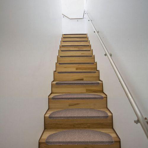 vidaXL Dywaniki na schody 64,5 x 25,5 cm Br?z x15 - produkt z kategorii- dywaniki