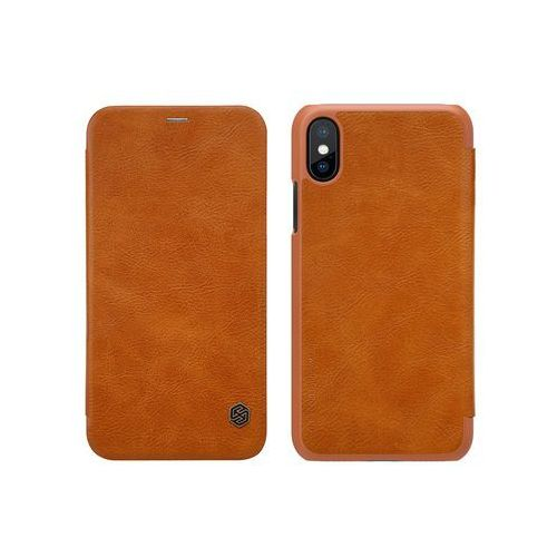 Apple iPhone XS - etui na telefon Nillkin Qin - brązowy, ETAP782NLQNBRN000