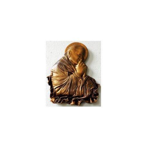 Art deco Święty papież jan paweł ii - płaskorzeźba w skórze na prezent - pn-2