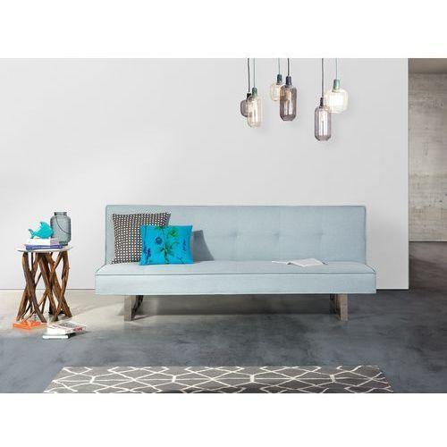 Sofa z funkcją spania jasnoniebieska - kanapa rozkładana - wersalka - derby marki Beliani